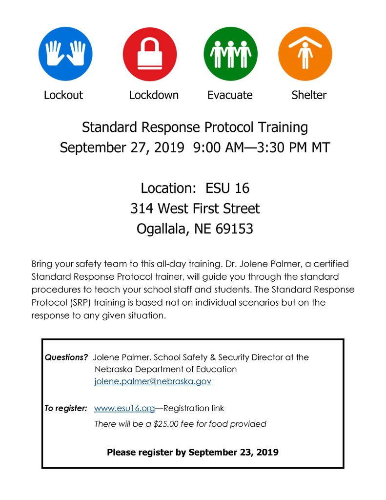 SRP Training flyer