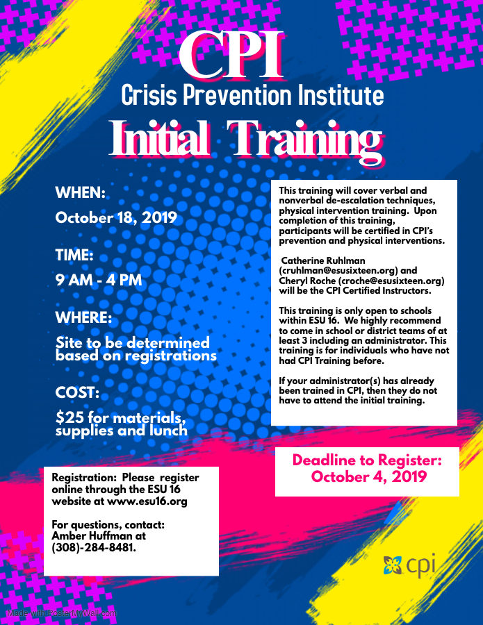 CPI INITIAL TRAINING! October 18th!!!