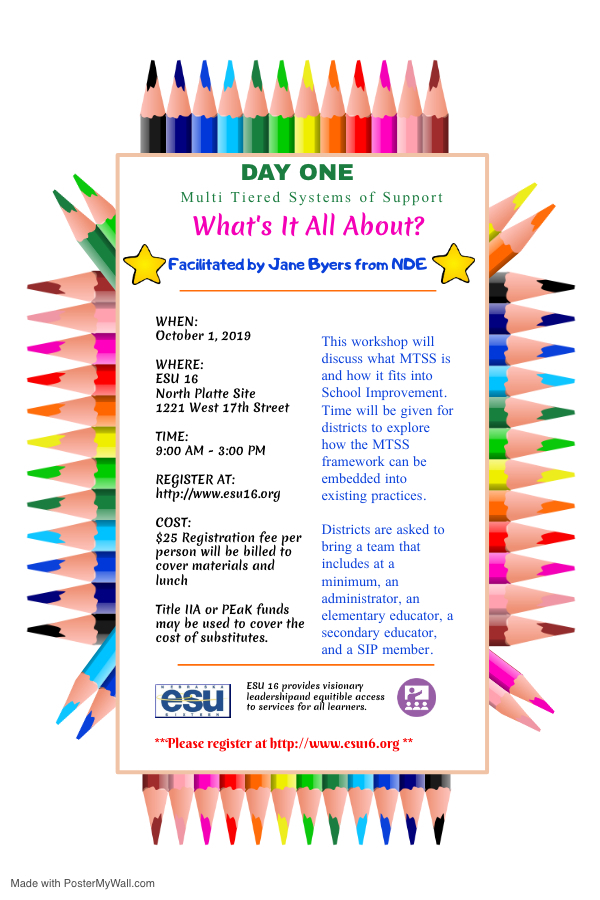MTSS Day One Flyer