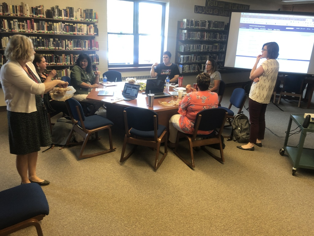 Librarians Collaborating at Mullen Public Schools