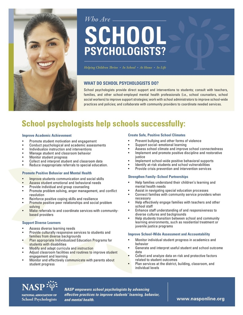 Information about School Psychologists