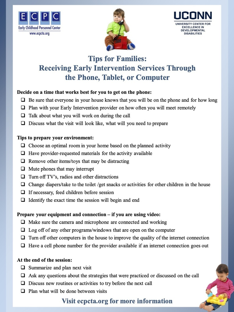 Tips for families flyer