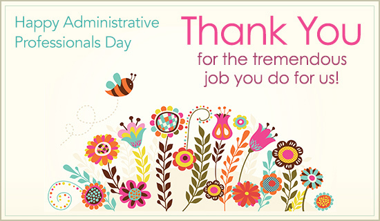 Admin Assistants Day Thank you